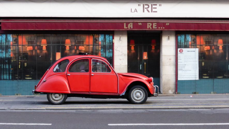 Red Car In Alençon